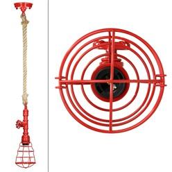 Hängelampe 1 flammige E27 mit 4W LED-Lampe, Rot