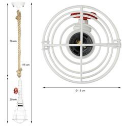 Hängelampe 1 flammige E27 mit 4W LED-Lampe, Weiß