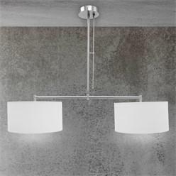Hängelampe 2 flammige E27 mit 4W LED-Lampe, Aluminiumfarben