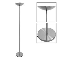 Standlampe R7S Fassung Dimmbar 180 cm Weiß Metall
