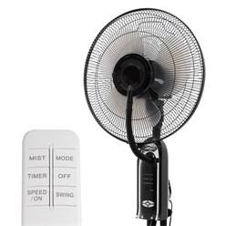 ML-Design Standventilator 75W, 125 × Ø 40 cm, mit Sprühnebel und Fernbedienung, aus Kunststoff/Metall