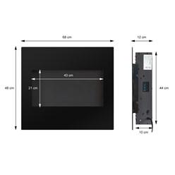 ML-Design Elektrokamin mit Heizung, 68x48x12 cm, aus Metall und Glas