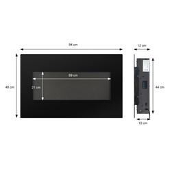 ML-Design Elektrokamin mit Heizung, 98x48x12 cm, aus Metall und Glas