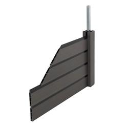 ML-Design WPC Sichtschutzzaun Komplett Set, grau, 282.5x282.5x175 cm