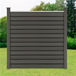ML-Design WPC privacy fence complete set, grey, 185x185x175 cm