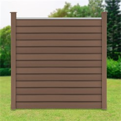 ML-Design WPC privacy fence complete set, brown, 185x185x175 cm