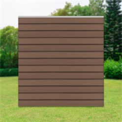 ML-Design WPC square element made of 13 panels, brown, 170x175x170 cm