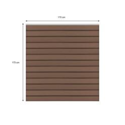 ML-Design WPC Quadratelement aus 13 Paneele, braun, 170x175x170 cm