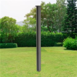 ML-Design WPC post for privacy fence, grey, 9x9x185 cm