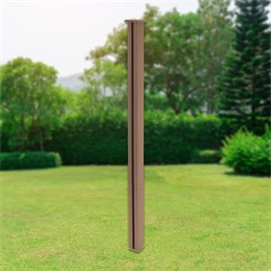 ML-Design WPC post for privacy fence, brown, 9x9x185 cm