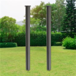ML-Design Set of 2 WPC posts for privacy fence, grey, 9x9x185 cm
