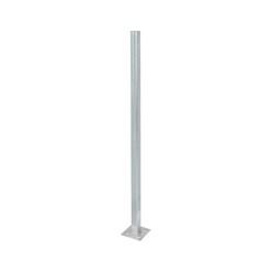 ML-Design 2er Set WPC Pfosten für Sichtschutzzaun, grau, 9x9x185 cm