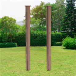 ML-Design Set of 2 WPC posts for privacy fence, brown, 9x9x185 cm