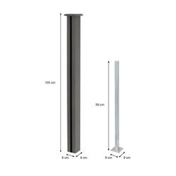 ML-Design WPC Schrägelement aus 13 Paneele für Sichtschutzzaun, grau, 97.5x105-175x1.9 cm