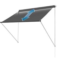 ML-Design Markise anthrazit, 150x120 cm, aus Metall und Polyester