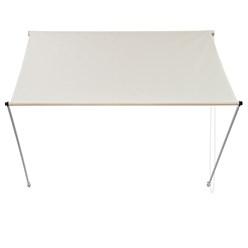 ML-Design Markise beige, 400x120 cm, aus Metall und Polyester