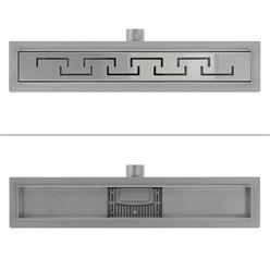 ML-Design Duschrinne geschlitzt, 50cm, silber, aus Edelstahl