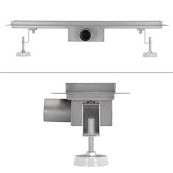 ML-Design Duschrinne geschlitzt, 60cm, silber, aus Edelstahl