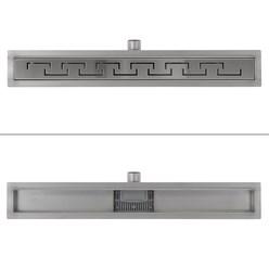 ML-Design Duschrinne geschlitzt, 70cm, silber, aus Edelstahl