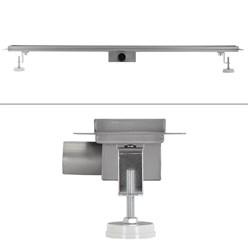 ML-Design Duschrinne geschlitzt, 100cm, silber, aus Edelstahl