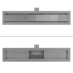 ML-Design Duschrinne geschlossen, 60cm, silber, aus Edelstahl