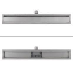 ML-Design Duschrinne geschlossen, 80cm, silber, aus Edelstahl