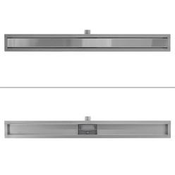ML-Design Duschrinne geschlossen, 90cm, silber, aus Edelstahl