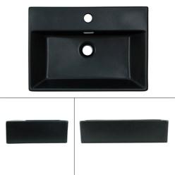 ML-Design Waschbecken Schwarz matt, 510x360x130 mm, rechteckig, aus Keramik
