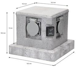 ML-Design 2-fach Gartensteckdosen, IP44, mit Dämmerungssensor aus Polyresin