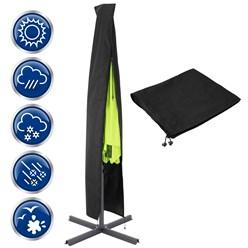 ML-Design Abdeckung für Sonnenschirm schwarz, 220x44 cm, aus PU