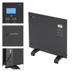 ML-Design Glaskonvektor 1000W, schwarz, mit LCD-Display und Fernbedienung