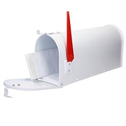 ML-Design US Mailbox mit aufrichtbarer Fahne in rot, weiß, aus Aluminium
