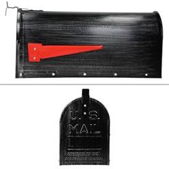 ML-Design US Mailbox mit aufrichtbarer Fahne in rot, retro-schwarz, aus Aluminium
