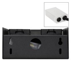 ML-Design Gartensteckdose 4-Fach, schwarz, Klappverschlüsse mit Magnetverschluss
