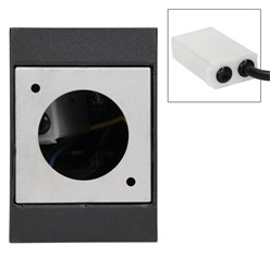 ML-Design Gartensteckdose 2-Fach, schwarz, Klappverschlüsse mit Magnetverschluss