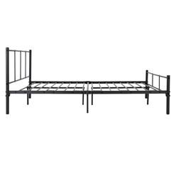 ML-Design Metallbett schwarz, 120x200 cm, auf Stahlrahmen mit Kopfteil und Lattenrost