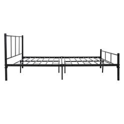 ML-Design Metallbett schwarz, 140x200 cm, auf Stahlrahmen mit Kopfteil und Lattenrost