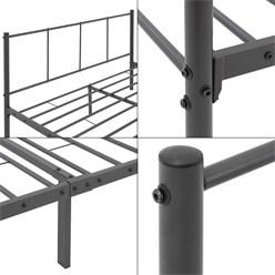 ML-Design Metallbett anthrazit, 120x200 cm, aus Stahlrahmen pulverbeschichtet