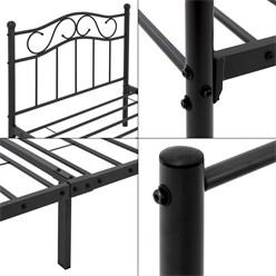 ML-Design Metallbett schwarz, 90x200 cm, auf Stahlrahmen mit Kopfteil und Fußteil