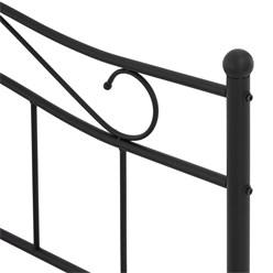 ML-Design Metallbett schwarz, 120x200 cm, auf Stahlrahmen mit Kopfteil und Fußteil