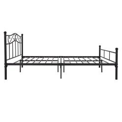 ML-Design Metallbett schwarz, 160x200 cm, auf Stahlrahmen mit Kopfteil und Fußteil
