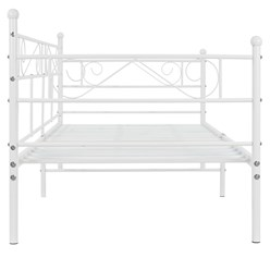 ML-Design Metallbett weiß, 90x200 cm, auf Stahlrahmen mit Kopfteil und Fußteil