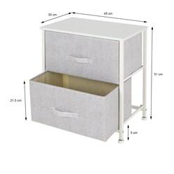 ML-Design Kommode weiß mit 2 Schubladen, 45x30x51 cm, aus Stahlrahmen mit laminierte MDF-Deckplatte