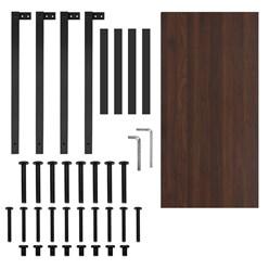 ML-Design Schreibtisch walnuss-schwarz, 120x60x75 cm, aus MDF und Metall pulverbeschichtet