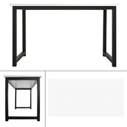 ML-Design Schreibtisch weiß-schwarz, 120x60x75 cm, aus MDF und Metall pulverbeschichtet