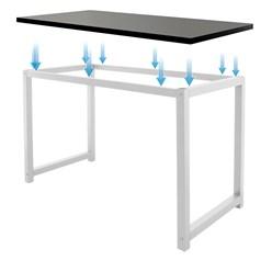 ML-Design Schreibtisch schwarz/weiß, 120x60x74,5 cm, aus Holz mit Metallgestell