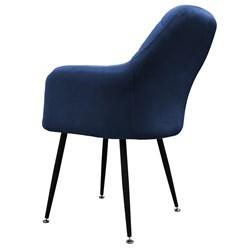 ML-Design 2er Set Esszimmerstuhl, Dunkelblau, mit Rücken- und Armlehnen