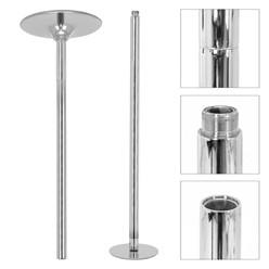 ML-Design Pole Dance Stange, silber, 2,35 bis 2,74 m höhenverstellbar, aus Stahl