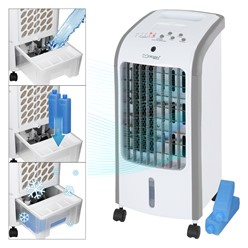 ML-Design Mobiler Luftbefeuchter 3in1, weiß, mit Fernbedienung