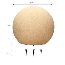 Kugelleuchten im Set mit LED Ø 30/40/50 cm in Steinoptik aus Kunststoff ML-Design